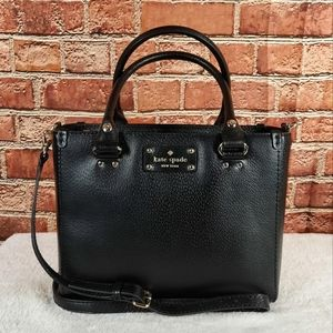 Kate Spade Wellesley Quinn small Leather Satchel Bag (Authentic)